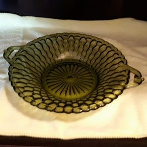 Other - Indiana Green Honeycomb Textured Design Candy Dish